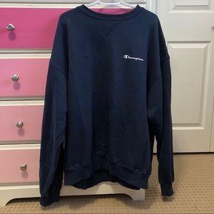 Navy champion sweatshirt